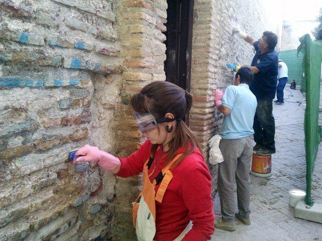 Limpieza pintadas Palacio Dar al Horra Albaicín
