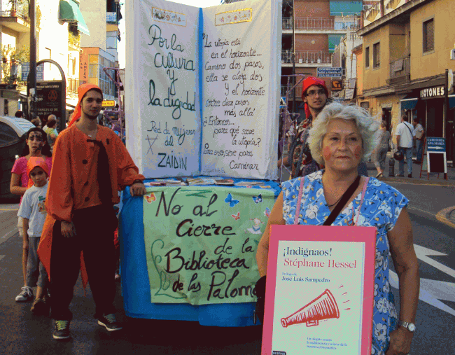 Pasacalles reivindicativo en las fiestas del Zaidín (edición 2012).