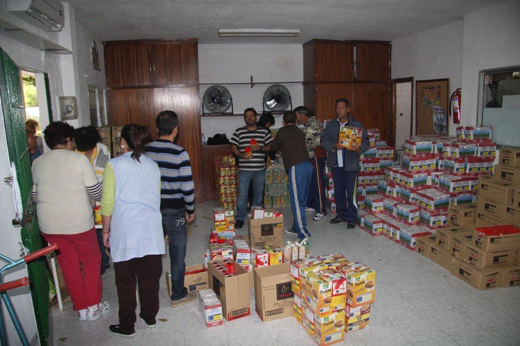 Entrega de alimentos en La Paz