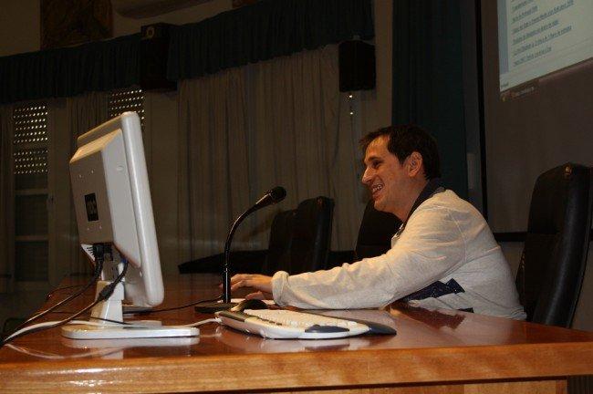 José Miguel 'Sele', durante su charla en el IES Virgen de las Nieves