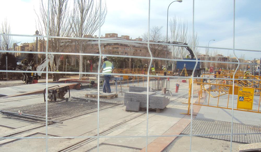 Obras del metro en el Zaidín.