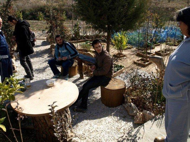 Jardín de una vecina de Casería de Montijo, próximo a la ribera del Beiro
