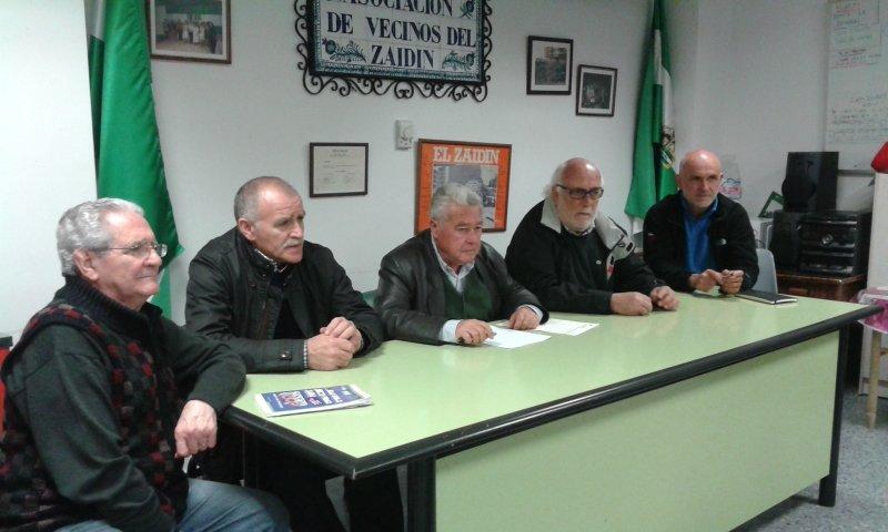 Manuel Morcillo, José fernández, Antonio Ruiz, Matías Muñoz y Juan Cueto, en rueda de prensa.