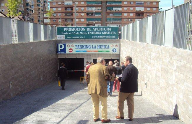 Visita al parking de la Hípica.