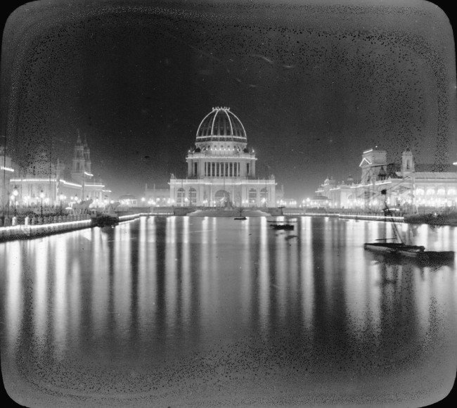 Expo Universal de Chicago iluminada Tesla
