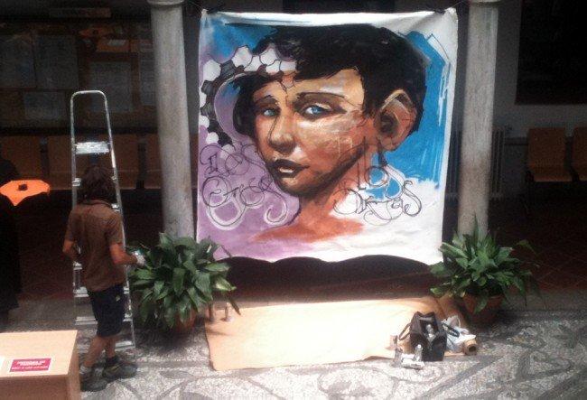 Trabajo del Niño de las Pinturas para el Centro de Lenguas Modernas