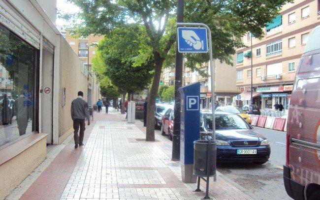 Multas en la zona azul de Granada