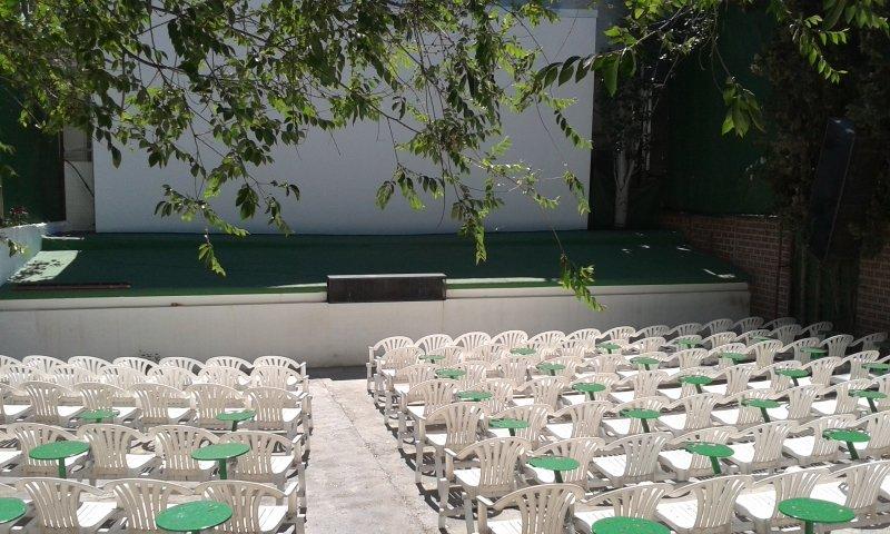 Una de las salas del cine de verano del Zaidín.