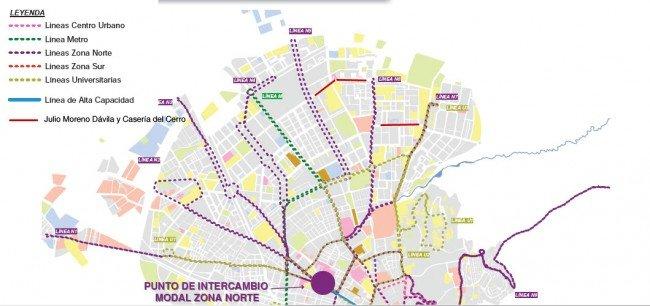 mapa plan de movilidad nuevas rutas de autobuses