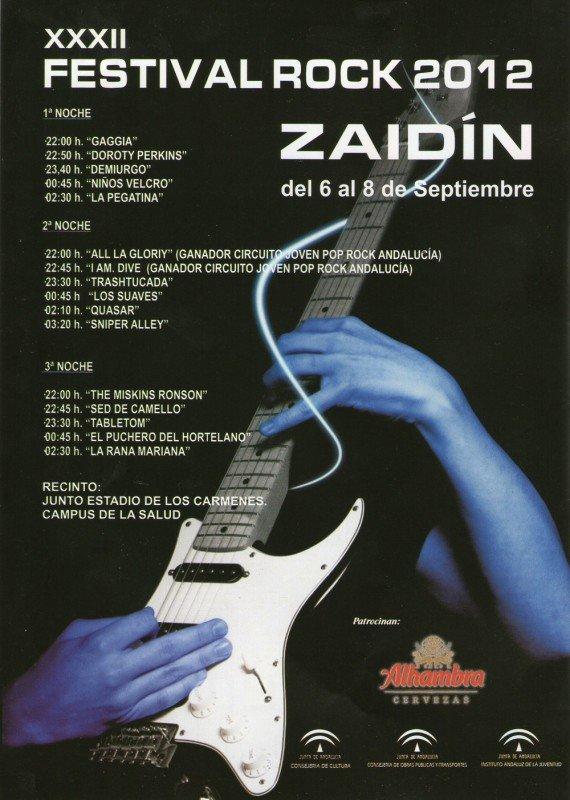 Programación del Festival de Rock del Zaidín de 2012