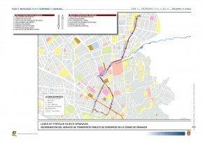 línea n7 plan de movilidad ayuntamiento de Granada
