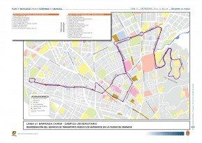 Línea U1 plan de movilidad ayuntamiento de Granada