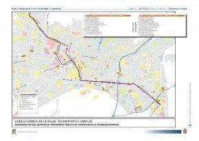 Línea U3 plan de movilidad ayuntamiento de Granada