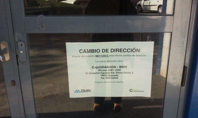 oficina cerrada cajagranada joaquina eguaras