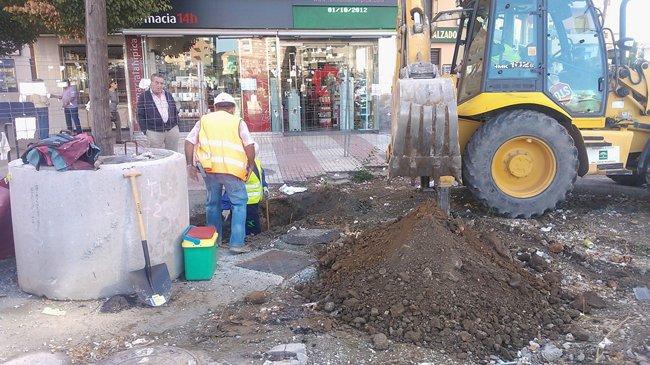 Obras del metro en Andrés Segovia