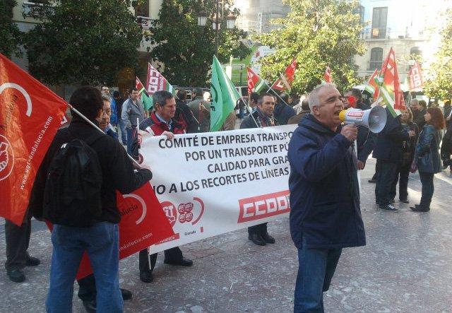 Protesta trabajadores Rober
