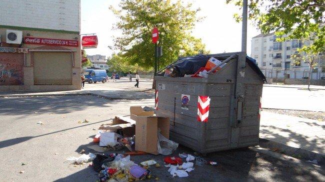contenedores basura inagra huelga general 14n