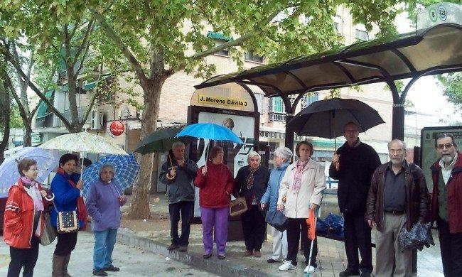 autobuses línea 20 Granada Rober calle Julio Moreno Dávila