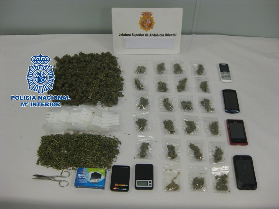 Punto de venta de droga en la Chana, Granada