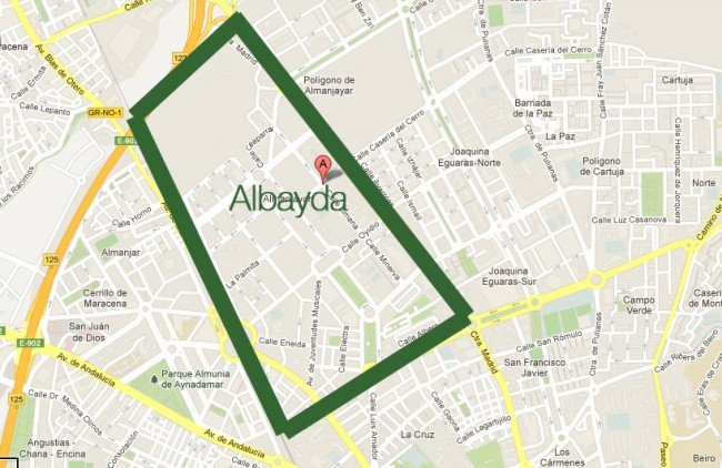 mapa albayda barrio granada
