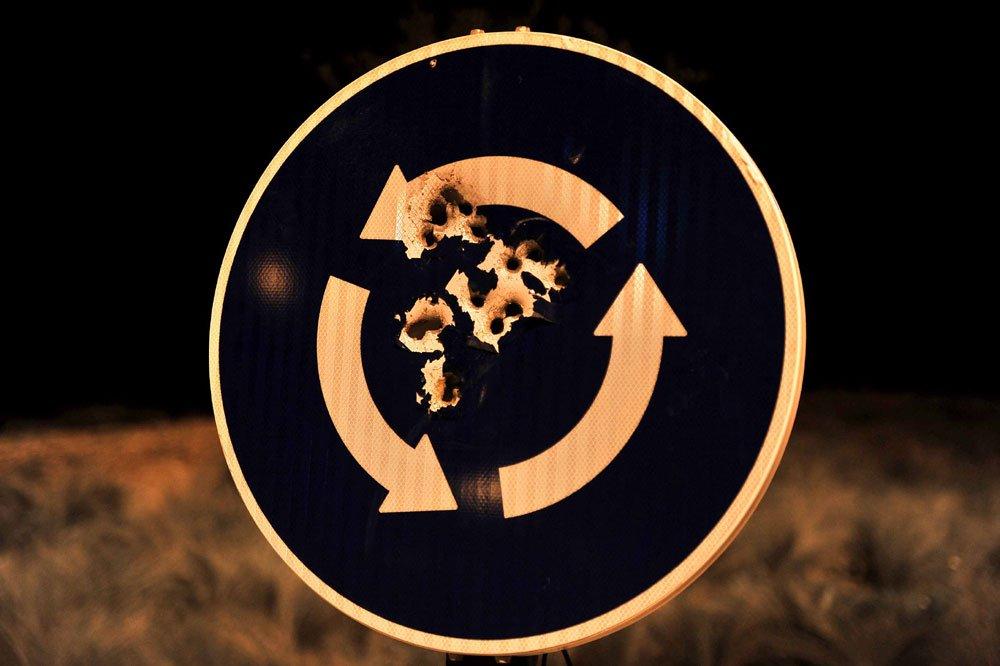 disparos en señal de tráfico zona norte granada