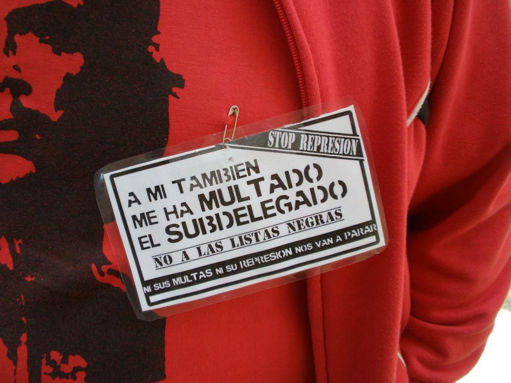 Stop Represión Multas Subdelegación