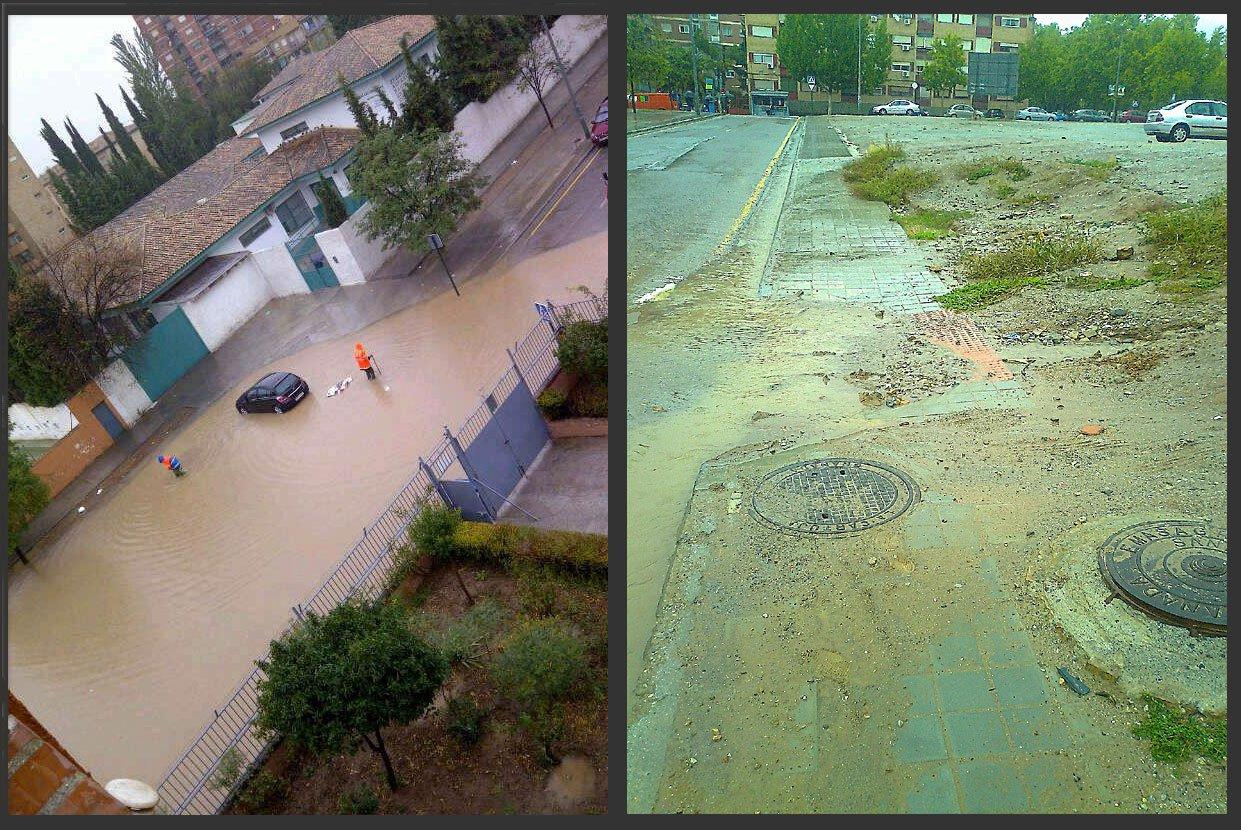 colegio luz casanova innundaciones