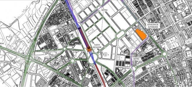 Plano de ubicación de la futura estación del AVE de Granada