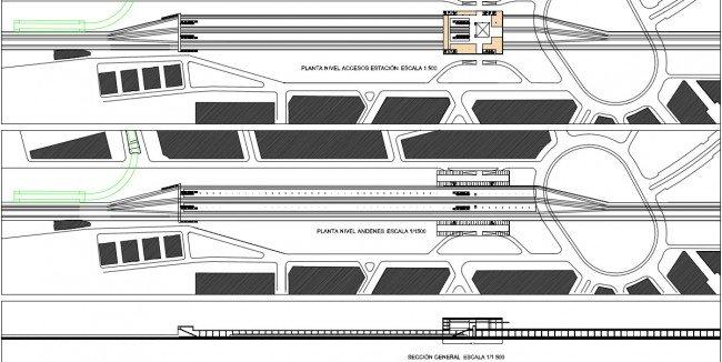 Plano de la futura estación del AVE de Granada