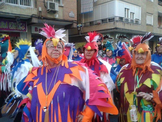 'Una bandada tropical', comparsa del centro de Día de Mayores de la Junta