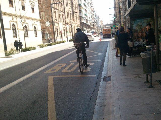 Carril bici Gran Vía