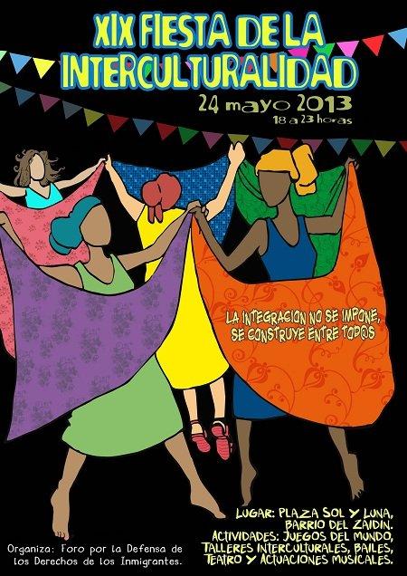 cartel de la fiesta de la interculturalidad