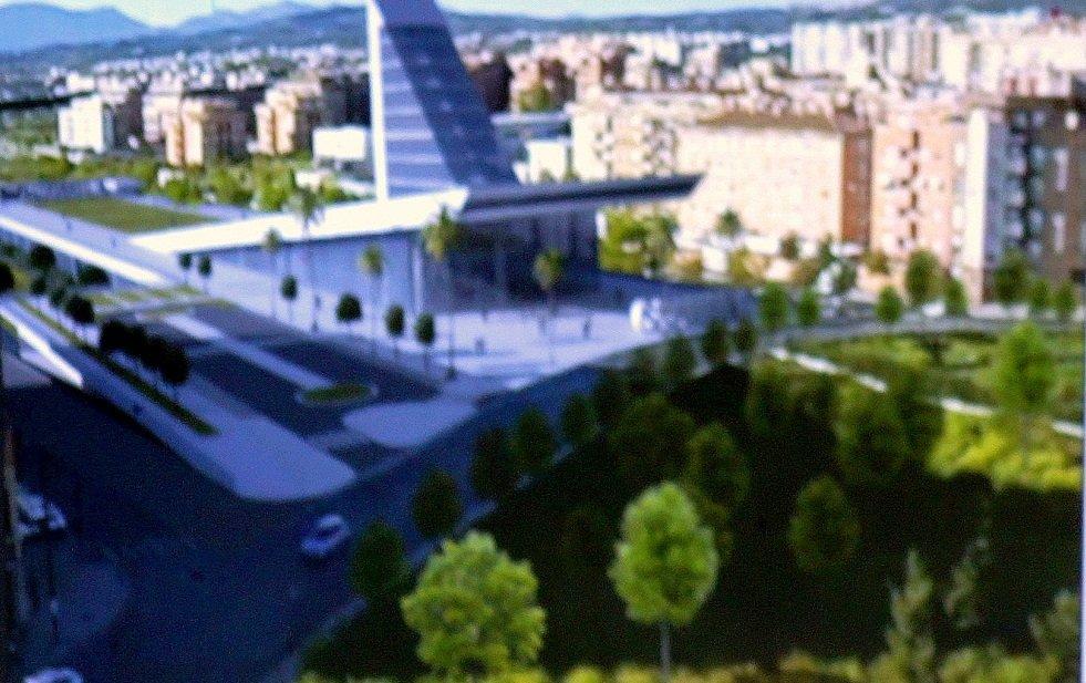 Recreación de la estación del AVE de Granada en la rotonda Europa
