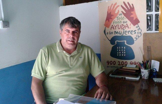 Ramón Fontela, en el comedor social de CEPAMN
