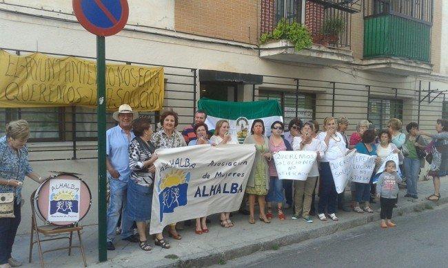 protesta de Mujeres Alhalba