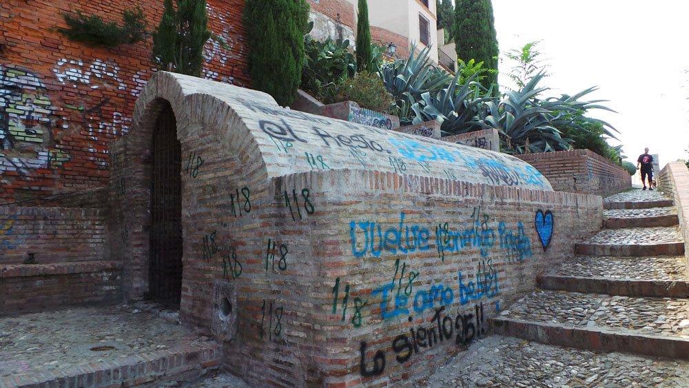 aljibe de Zenete, grafiti, albaicín