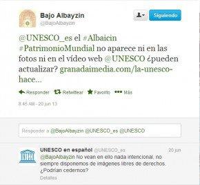 AVV Bajo Albacín, Unesco