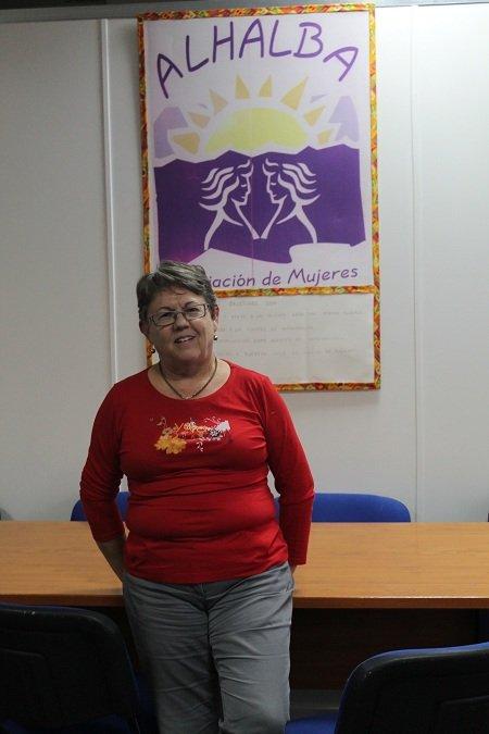 ana vargas, presidenta de mujeres Alhalba
