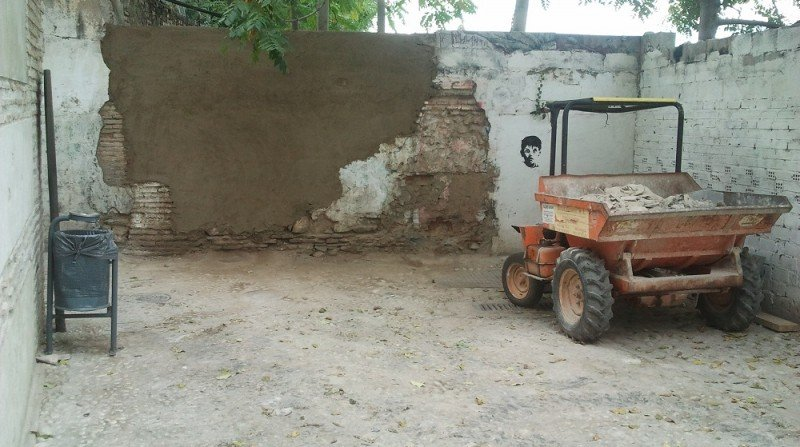 Callejón de las Monjas, Albaicín, muro