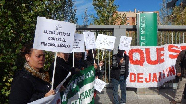 concentración barrios ignorados de andalucía en Granada