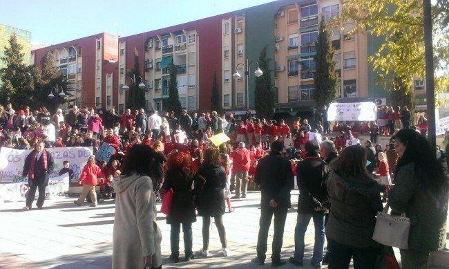 manifestación en casería de montijo