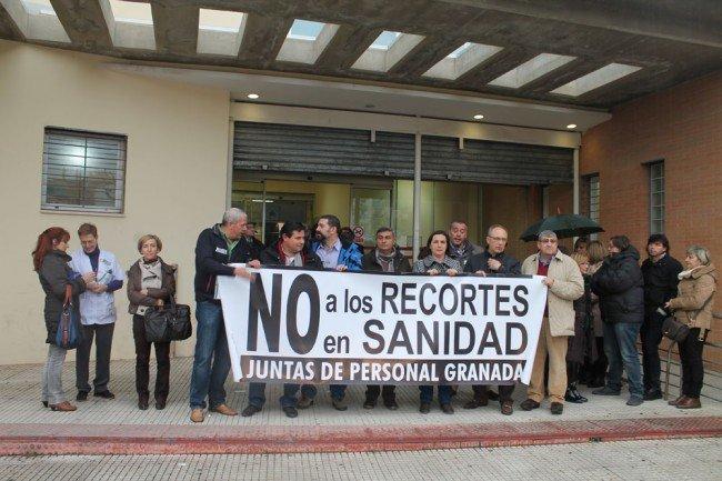 protesta en el centro de salud de la Chana