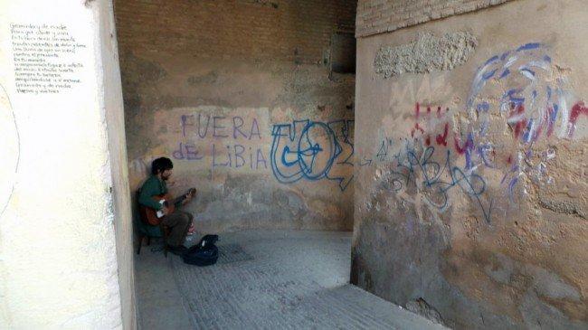 Arco de las Pesas, Albaicín, pintada, grafiti