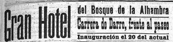 Hotel Reúma, El Defensor de Granada, anuncio