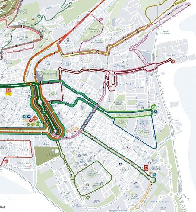 nueva red de transporte público en el Distrito Zaidín