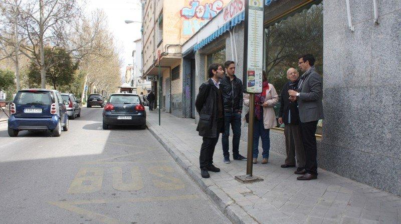 Visita del PSOE a la Chana, Granada