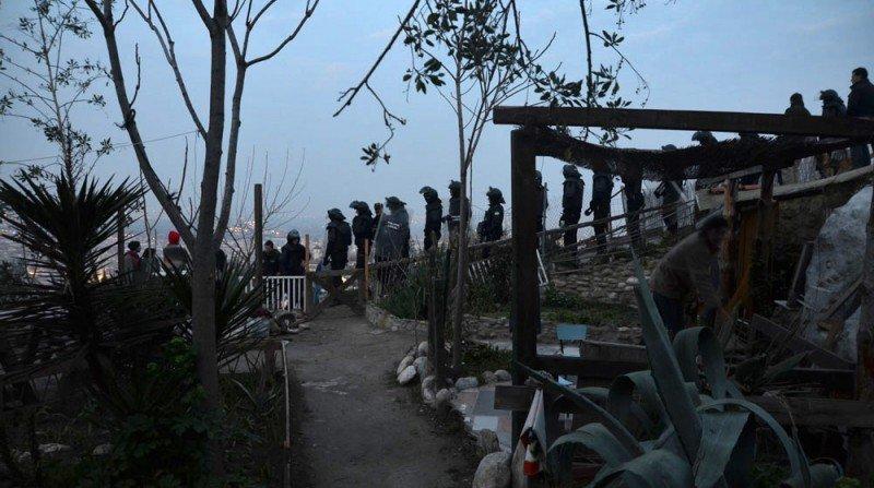Policía Local de Granada, cuevas de San Miguel, desalojo de cuevas