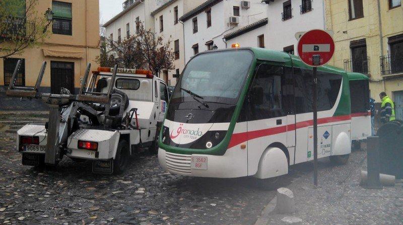 tren turístico, Cuesta de la Alhacaba