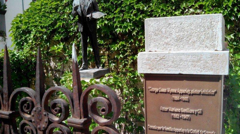 placa, Apperley, callejón de la Gloria, Albaicín
