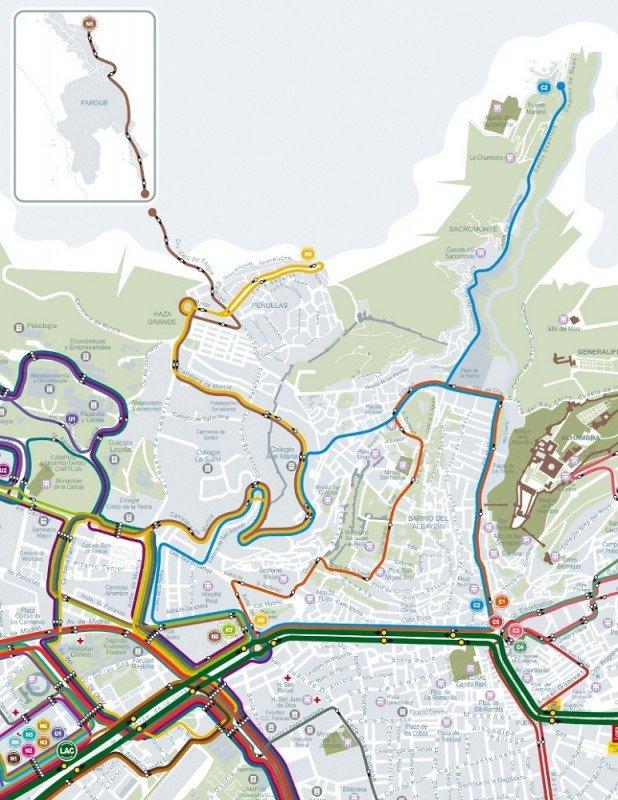 líneas de autobuses Albaicín, Albaicín,